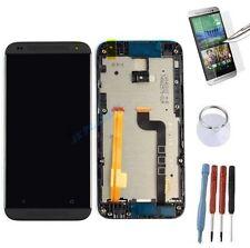 ECRAN LCD + VITRE TACTILE SUR CHASSIS BLOC COMPLETE POUR HTC DESIRE 601 NOIR