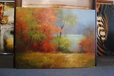 Original Oil Painting Art on Canvas LANDSCAPE OIL Unframed