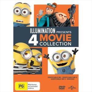 Despicable Me 1 2 3 + Minions : NEW 4-DVD