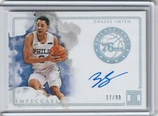 2018-19 Panini Impeccable ZHAIRE SMITH Autograph On Card #'d 17/99 PH-ZSM