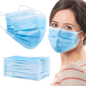 100 Pcs Face Mask Mouth & Nose Protector Respirator Masks with Filter