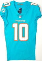 MIAMI DOLPHINS #10 KENNY STILLS 2018 TEAM/PLAYER ISSUED AQUA NIKE LINE JERSEY-38