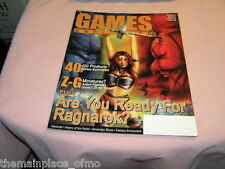 Games Unplugged Magazine #11 September 2001 Ragnarok, Z-G Minatures