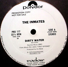 "INMATES - Dirty Water - '79 WLP 12""  garage punk Single - NM"