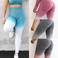 Women Seamless Yoga Fitness Leggings Running Gym Sports High Waist Pants Trouser
