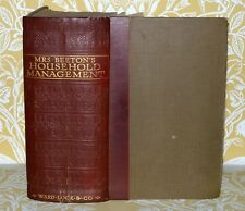 Mrs Beeton's Book of Household Management  circa 1925.30s VINTAGE BIG BOOK