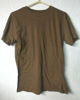 5 PACK of Canadian Army Surplus Coyote Brown (Tan)  Logistik T Shirt LARGE