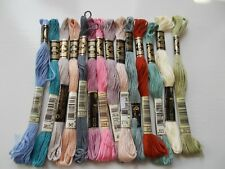 Cross Stitch/ Embroidery Threads Assorted colours 15 skeins New by DMC