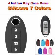 For Nissan 4 Button Remote Key Fob Cover Case Shell fit Maxima Altima Murano Gel