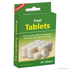 Coghlans Solid Fuel Tablets Hexamine Tablets x24  use Solid fuel cooker Steam...