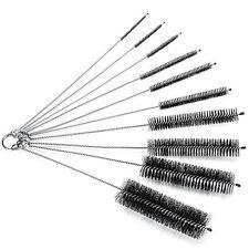 10*Nylon Cleaning Brush Set Test Tube Bottle Straw Washing Cleaner Bristle Kit