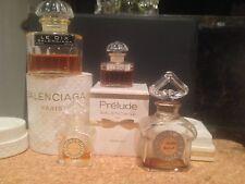 Lot Vintage Perfume Guerlain L'Heure Bleue  Mitsouko Balenciaga Le Dix