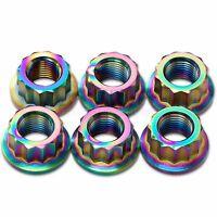 6x Rainbow Titanium Rear Sprocket Nuts Ducati Panigale V4, V4S, V4S Speciale