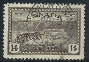 Canada #270(14) 1946 14 cent HYDROELECTRIC STATION OWEN SOUND ONTARIO SOTN