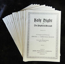 Lot 14 HOLY NIGHT/THE SHEPHERD=MESSIAH Christmas Season Service Booklets c1927