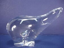 RK. 3006. F. WALVING CRYSTAL CLEAR POLAR BEAR FIGURINE