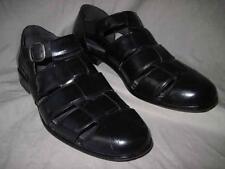 STAFFORD mens black leather fishermans sandals shoes size 10.5 M