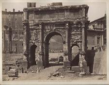 VINTAGE ALBUMEN ARCH OF SEPTIMIUS SEVERUS, ROME.