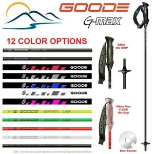 Ski Poles - 2021 Goode G-Max Strong Light Weight Fiber Composite Ski Poles