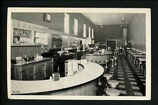 Wisconsin WI Vintage postcard West Bend. Beacon Restaurant diner interior