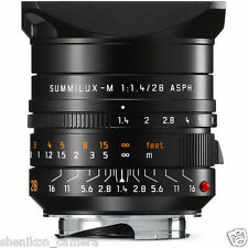 New Unused Leica Summilux-M 28mm F1.4 f/1.4 ASPH. Black 6-Bit M 240 M9 M8 11668