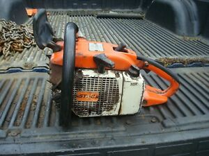 Vintage Stihl 032 AV 51cc Chain Saw Power Head- Runs- Good Condition