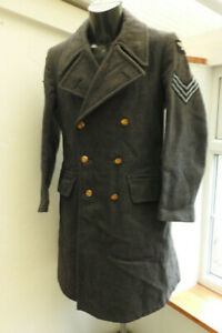 An Original WW2 Dated Military Blue Great Over Coat RAF Uniform Air Force (5442)