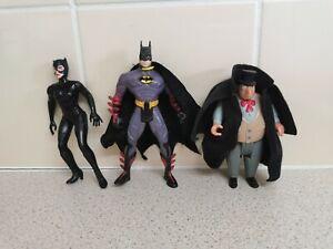 Dc Comics Action Figures Batman Penguin And Catwoman 1990s