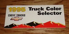 1995 Chevrolet Truck Exterior Color Sales Brochure 95 Chevy Pickup Blazer
