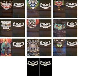 2er Set Crazy Skull,Clown,Joker,Biker Schlauchtuch Multifunktionstuch Bandana