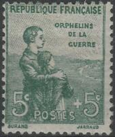 "FRANCE STAMP TIMBRE N° 149 "" ORPHELINS 5c + 5c VERT "" NEUF xx TTB  K154"