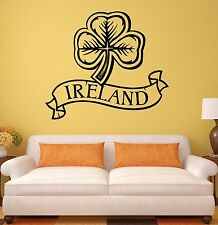 Wall Sticker Ireland Irish Shamrock Mascot Art Mural Vinyl Decal (ig1937)