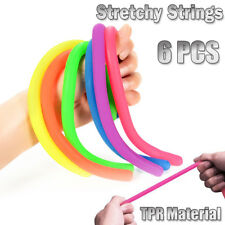 6Pcs TPR Stretchy Strings Sensory Fidget Kids Toys Anti Stress Anxiety Autism