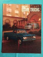 """1969 Dodge """"Light-Duty Dodge Trucks"""" Truck Dealer Showroom Sales Brochure"""
