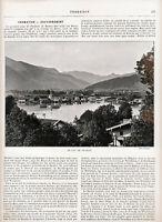 Bayern 1901 Illustr. Landeskunde-Kapitel frz. Tegernsee Königssee Berchtesgaden