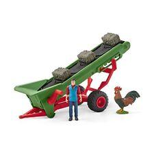 Schleich 42377 - Heuförderband mit Bauer - Spielzeug
