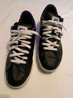 Nike SWEET CLASSIC Black Blue Leather Low Sneaker Men's 11 EU 45 Used 318333-092