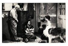 AE1522  MOVIE STAR LASSIE COLLIE DOG W. MONKEY RPPC