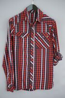Men Berghaus Casual Shirt Check Roll Sleeves Nylon M MEA56