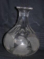 ANTIQUE ENGLISH STOURBRIDGE IRISH CUT GLASS LIQUEUR DECANTER / SCENT BOTTLE