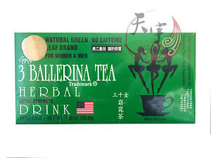 3 BALLERINA TEA SLIMMING TEA FOR DIET SLIM WEIGHT LOSS 18 TEA BAGS