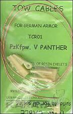 Karaya 1/35 Panther Towing Cable and resin eyes # TCR01