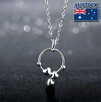 925  Sterling Silver Filled Fashion Heart Shape Chain Necklace ~~Gift ideal~~