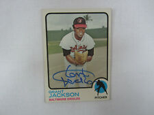 1973 Topps # 396 Grant Jackson Autograph / Signed Card Baltimore Orioles (M)