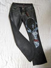 Miss Sixty Jeans W27/L34 Grey Denim slim fit extra low waist extra flare leg