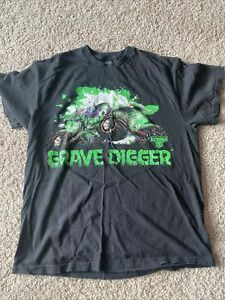 vintage Black grave digger T Shirt Monster Jam Size Large