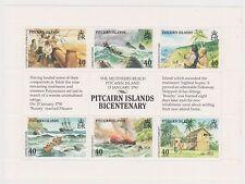 (OV-83) 1989 Pitcairn Island M/S bicentenary Pitcairn Island SG357-60 MUH