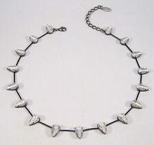 Versilberte Modeschmuck-Halsketten & -Anhänger im Collier-Stil mit Tropfen
