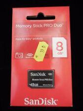 Memory Stick Pro Duo 8 GB nueva y precintada.