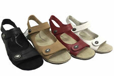 Flat (0 to 1/2 in.) Leather Solid Sandals & Flip Flops for Women